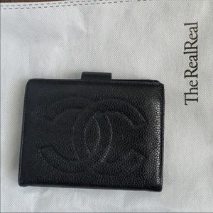 Authentic Chanel Caviar Compact Wallet